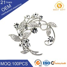 Good quality mordern design unique alloy enamel bee shape costume brooch
