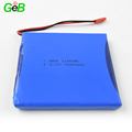 Recharegeable 3.7V lithium polymer lipo battery pack 118085/7200mAh for protable GPS devices