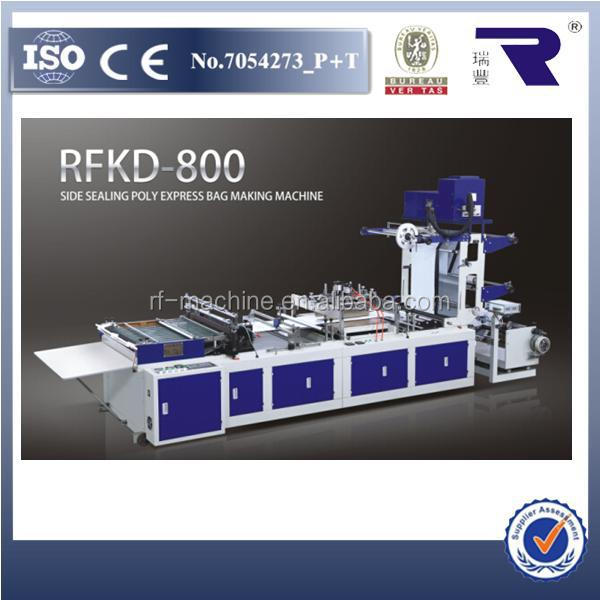 RFKD-800 Full Auto High Speed DHL Side Sealing Poly Security Express Courier Bag Making Machine