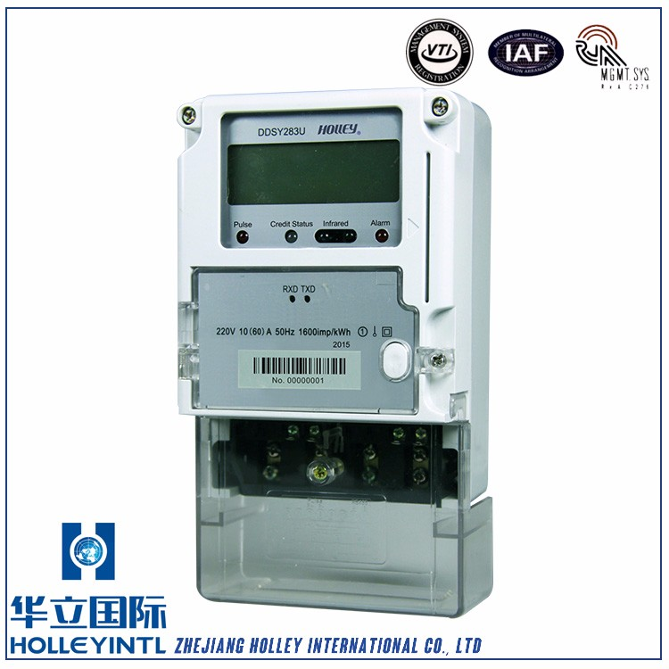 Convenient Installation Overload Detection Prepayment Electric Meter