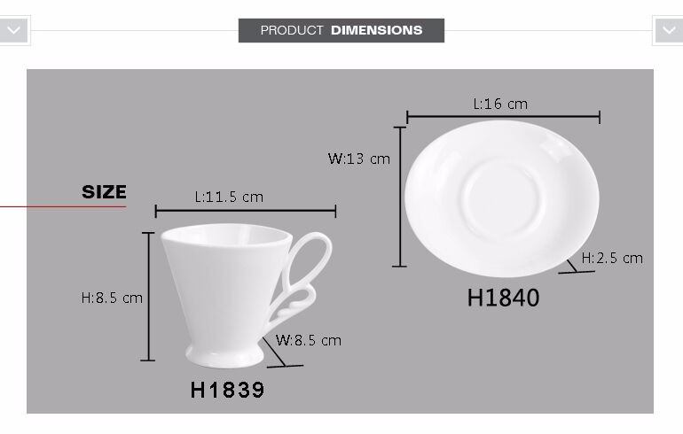 Reusable white porcelain 200ml bulk tea saucer sets ceramic cup coffee with cheap price