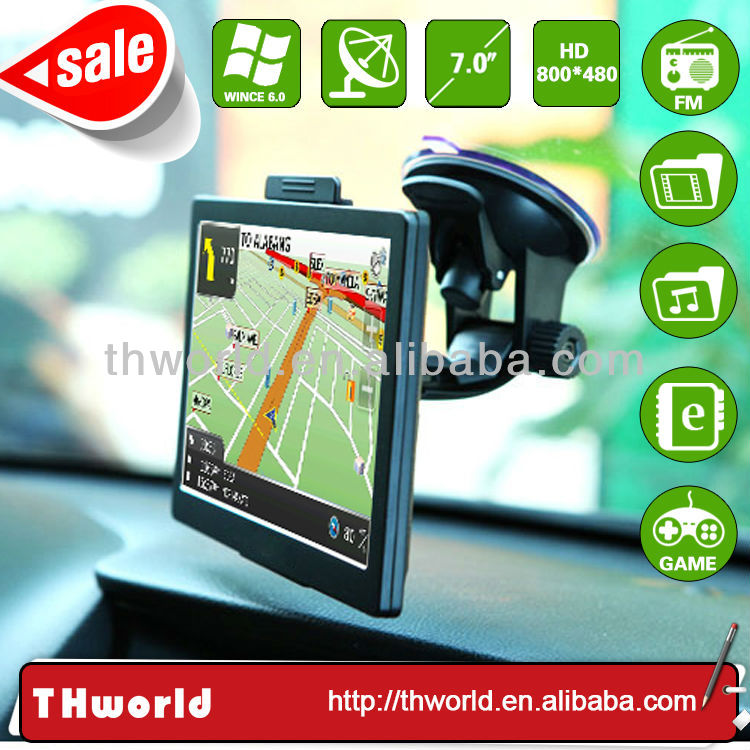 bottom price sale 7 inch big screen car gps device with latest map software