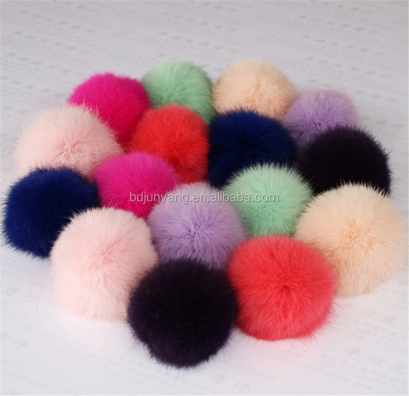 rabbit fur pom poms real rabbit fur ball hair pom accessories