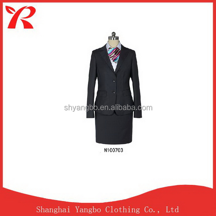 Direct Factory Price China manufacture special business lady suit uniforms