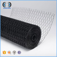 Black pvc coated chicken hexagonal wire mesh poultry wire netting