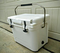 20QT rotomolded cooler box with 316 stainless steel handle