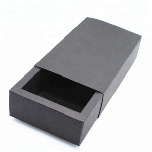 Recycled material kraft paper designer small drawer cardboard packaging slide box packing custom