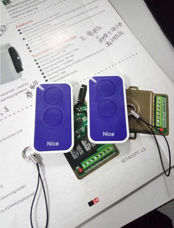 yaoertai NICE INTI compatible remote control 433, transmitter spares