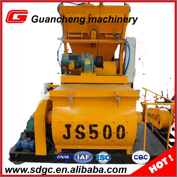 New automatic concrete mixer JS500 aggregate mixer price