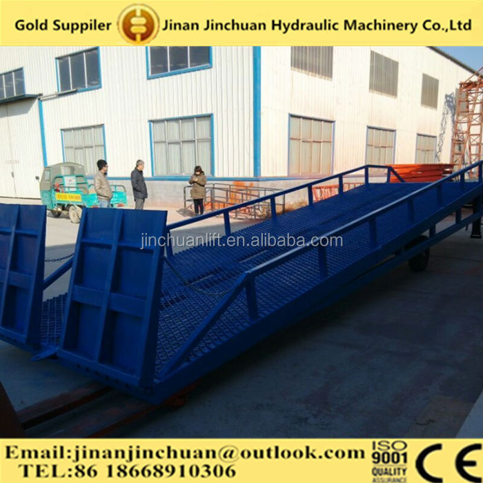 manual hydraulic mobile dock leveler /mobile loading hydraulic dock leveler 8000kg