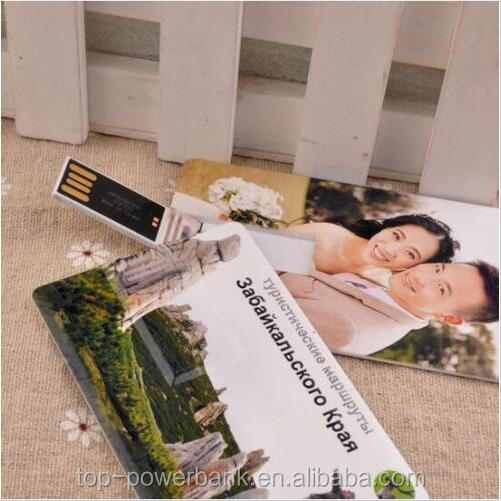 Wedding Gift USB 2.0 Memory Stick Flash Drive Business Credit Card with Custom Logo