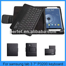"Removable Bluetooth Keyboard Case For Samsung Galaxy Tab 3 7"" P3200"