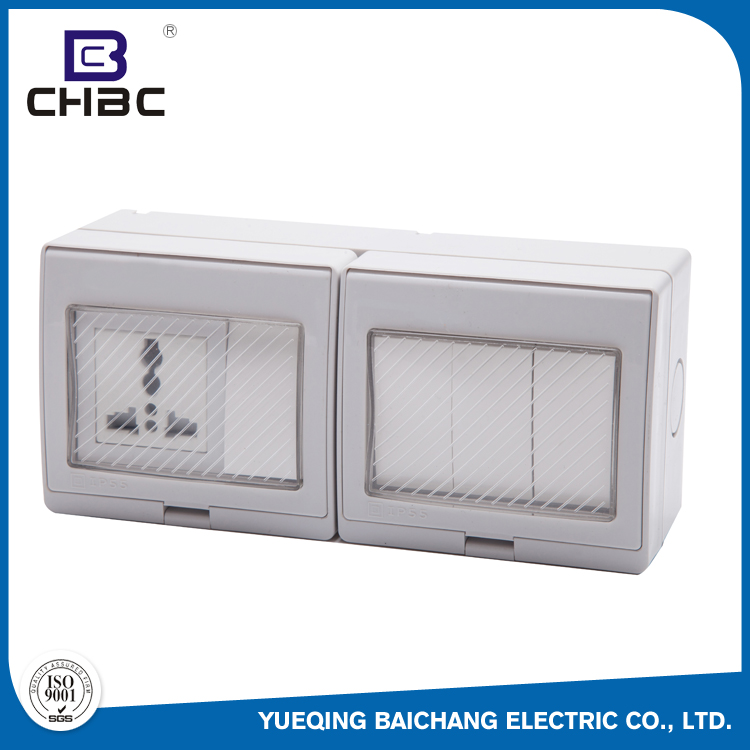 CHBC China Manufacturing Waterproof IP55 Electrical Light Switch For Bathroom