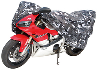 waterproof and high quality 150D oxford black and white camouflage 12101 motorcycle cover