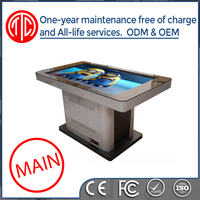 46 inch Hotels Waterproof Multimedia LCD Touch Screen Bar Table Game Table