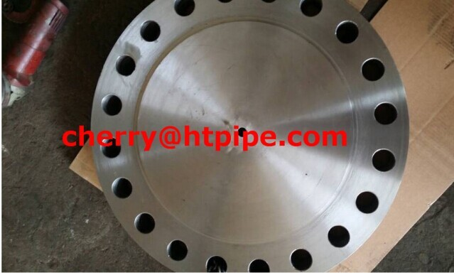 "ASTM A 350 LF2 RTJ Blind flange with 1/2"" NPT hole"