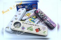 Back To School Metal Pencil Case Tin Can Box