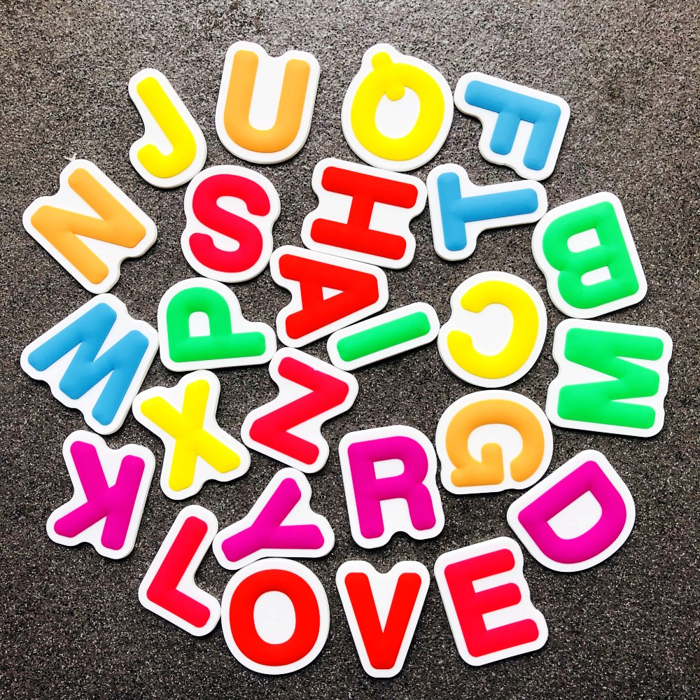 26 Letters 2d Soft PVC Rubber Fridge Magnet Cheap Promotional Gift Refrigerator Magnetic Sticker