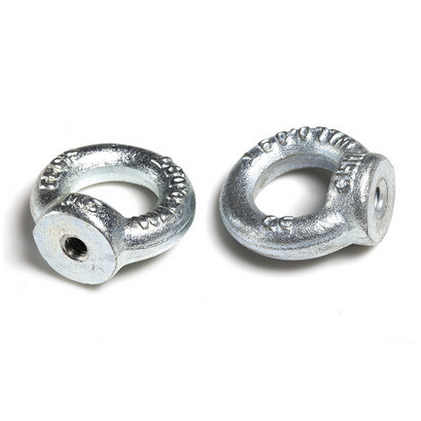 Silver <strong>M8</strong> Ring Shape Eyed Threaded Nuts 304