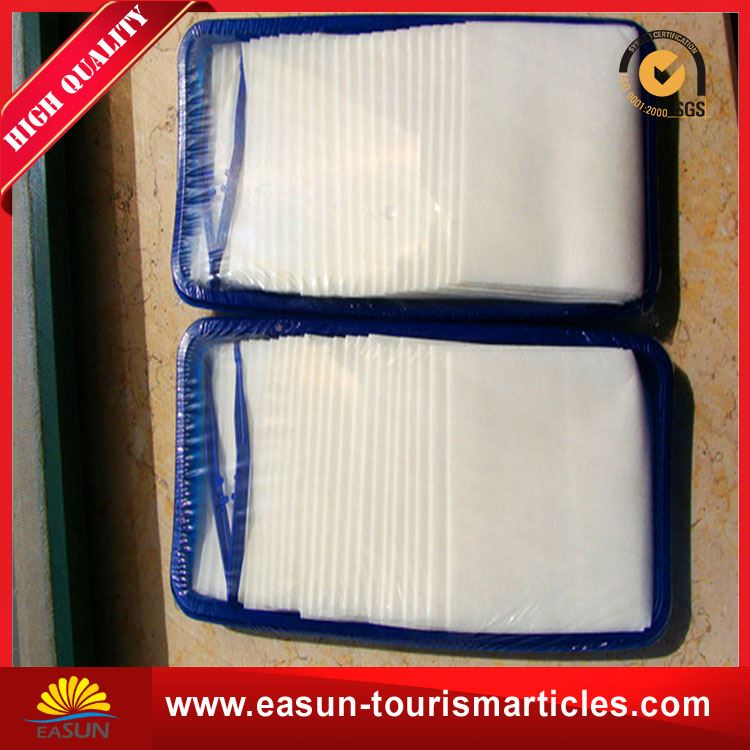 Low price bamboo towel airplane towel on board towel airplane