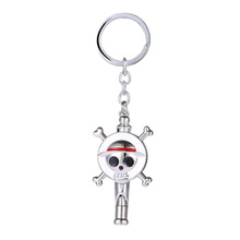 (One Piece) Fashion Anime One Piece Keychain Skull Luffy Key Rings Key Holder Chaveiro Car Key Chain Jewelry Souvenir