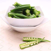 10kg/bag IQF frozen yellow okra with export standard
