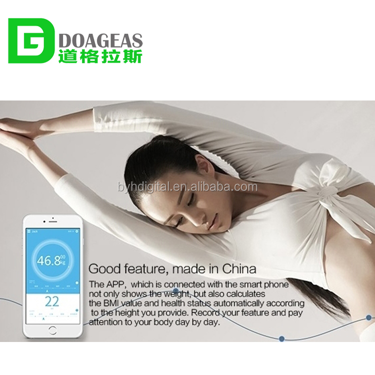 DGLS-E01 2015 Hottest Household Weight Scales accurate wifi body fat scale