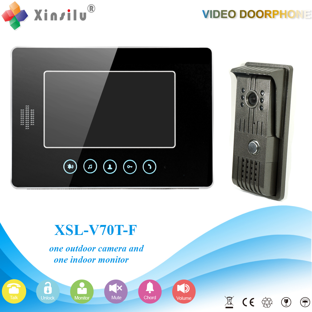 XSL-V70T-F 1V1 XSL Manufacturer 2016 7Inch large screen Color LCD Monitor intercom building video door phone