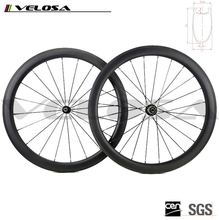 Velosa carbon Wheels for road bicycle carbon 700C road offset rim Toray T700 Carbon Fiber 50mm clincher asymmetry wheels