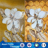 latest design popular wallpaper pictures with flower pattern mosaic tile