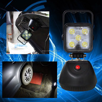 WATERPROOF LED WORK LIGHT DETACHABLE RECHARGEABLE BATTERY HAND CARRY LAMP ATTACHABLE MAGNETIC WORK LAMP