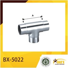 Stainless Steel T Shape Handrail Connector, Pipe Connector.