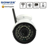 1 megapixel 720p weatherproof outdoor tf card wifi audio POE camera home surveillance wireless