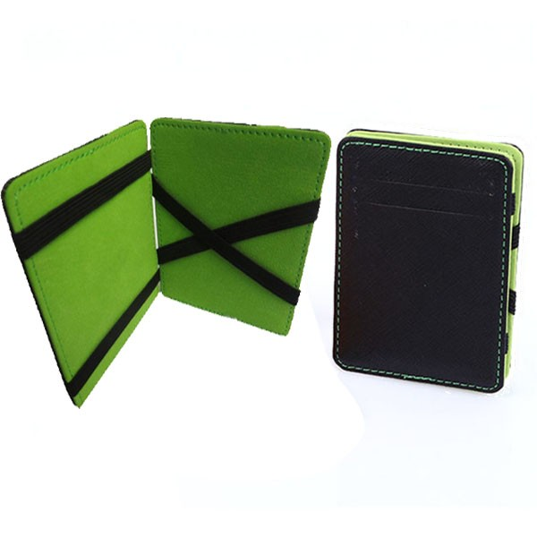 RFID mens slim leather mens wallet carbon fiber money clip with customized logo