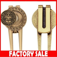 UK277 Hot selling strong magnetic antique divot tool golf ball marker with low price