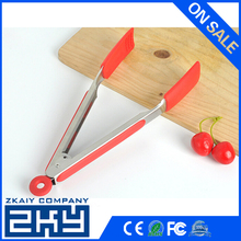 ZKY - Premium Silicone Kitchen Tongs 7/ 9/ 12/ 14/ 16 Inch, Non-Stick Friendly - A Good Serving and Feeding Set for Kitchen