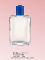110ML clear after shave bottles with a plastic cap