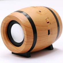 2017 new arrival USB Music Speaker bluetooth speaker 2017 with Wireless Wooden Beer Drum