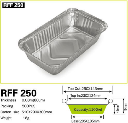 Pollution-free Aluminum Foil Container For Household use