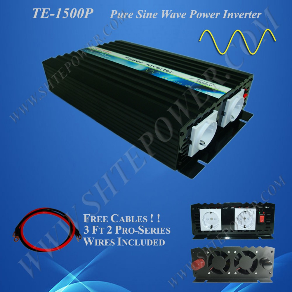 pure sine wave rated 1500w peak 3000w power inverter dc 12v 24v to ac 110v 220v 230v