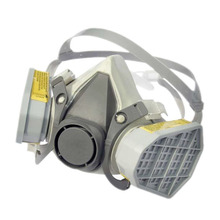 half face magnetic gas mask double filter against organic or acid gas