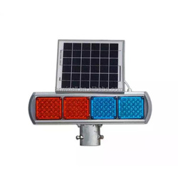 Traffic Solar Strobe Red & Blue Warning Light