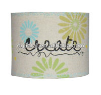 Hand painted fabric lamp shade for child lamp