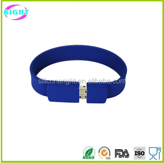 2017 good quality silicone bracelet usb