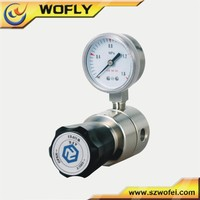 ss316L diaphragm gas safety pressure regulator with meter