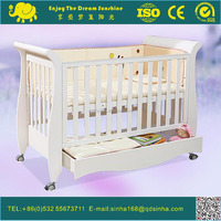 2016 Hot Sell Australia Wooden Baby Cot With Drawer