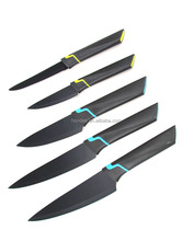 5pc nonstick stainless steel knife set