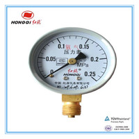 "4"" 100mm wika bourdon tube pressure gauge lower connection"