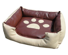 New Arrival 2015 Footprint Leather Large Dog Bed XL Four Seasons Cat Litter Mat removable Cat Sleeping Sofa Bed