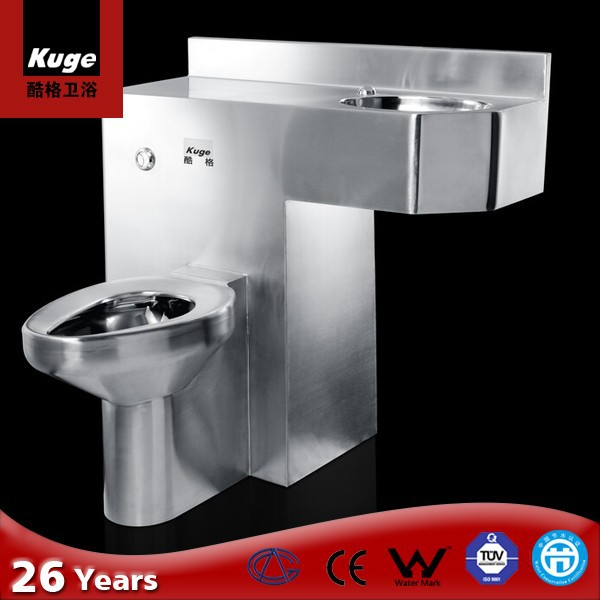 Stainless Steel Sanitary Ware One Piece Toilet